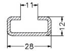 Монтажные шины С-профиля с отверст.12мм на планках