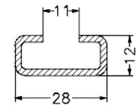Монтажные шины С-профиля сотверст.12мм напланках